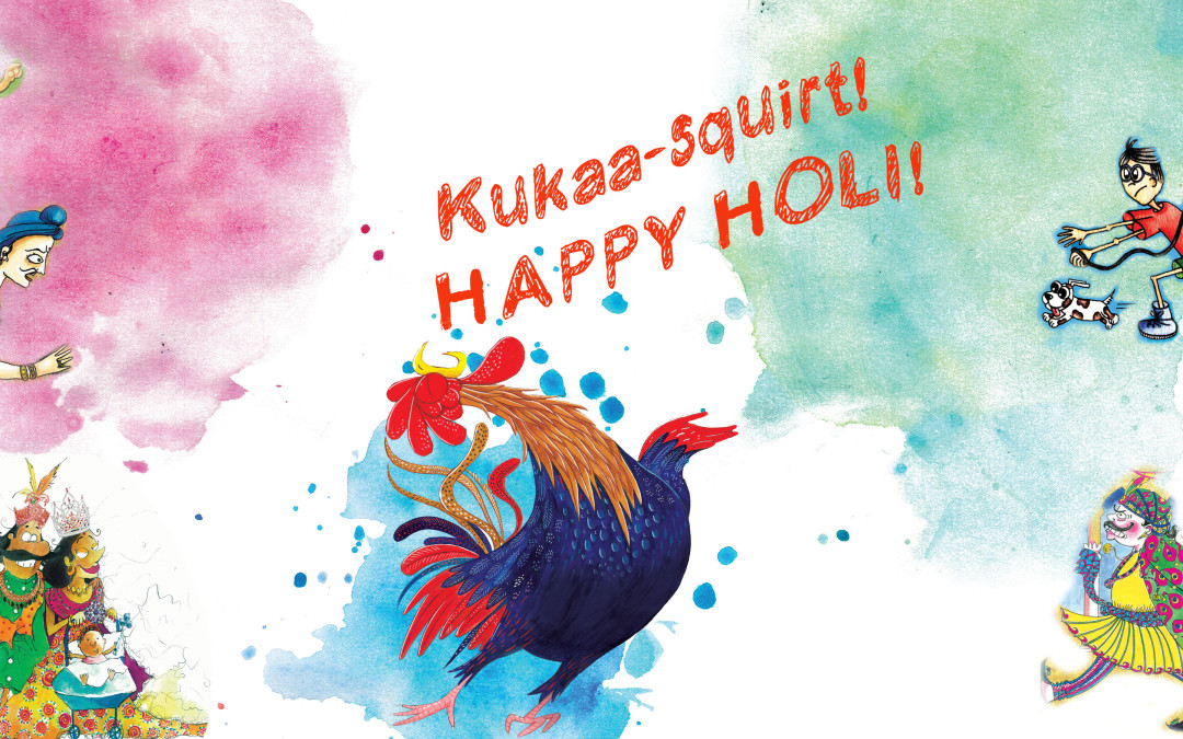 Kukaa-squirt! Happy Holi!