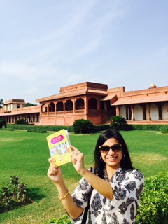 What happens when an author visits the setting of her book, Fatehpur Sikri